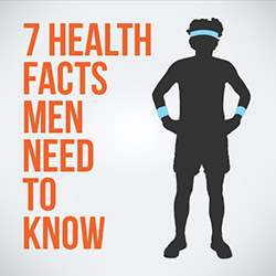 7 Health Facts Men Need to Know Infographic