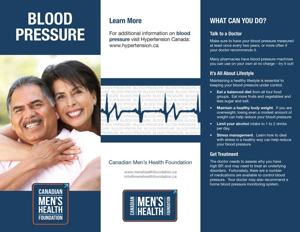 CMHF Blood Pressure brochure, page 1