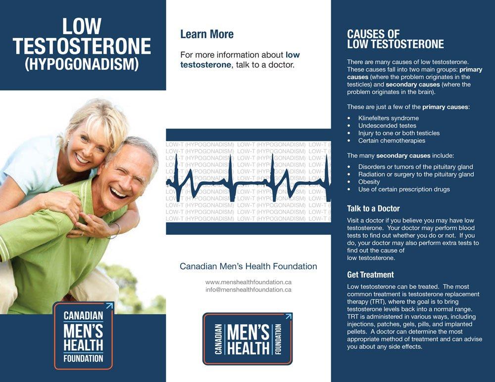CMHF Low Testosterone brochure, page 1