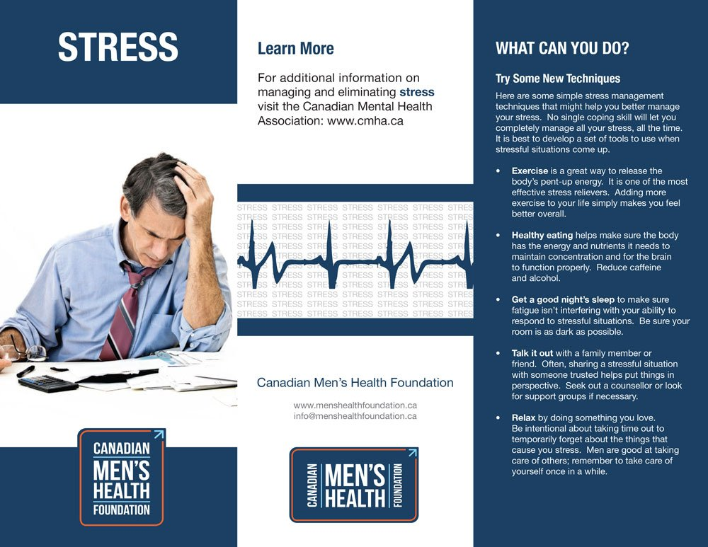 CMHF Stress Prevention brochure, page 1