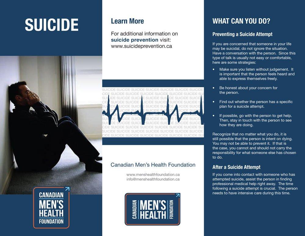 CMHF Suicide Prevention brochure, page 1