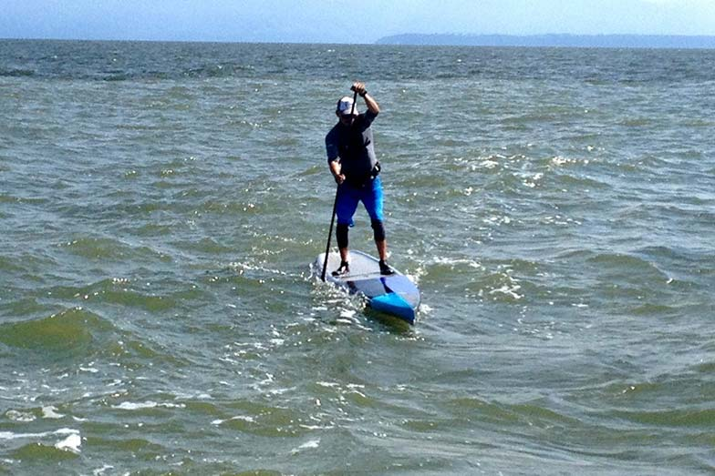 Stand Up For Men's Health paddle boarders halfway across Georgia Strait
