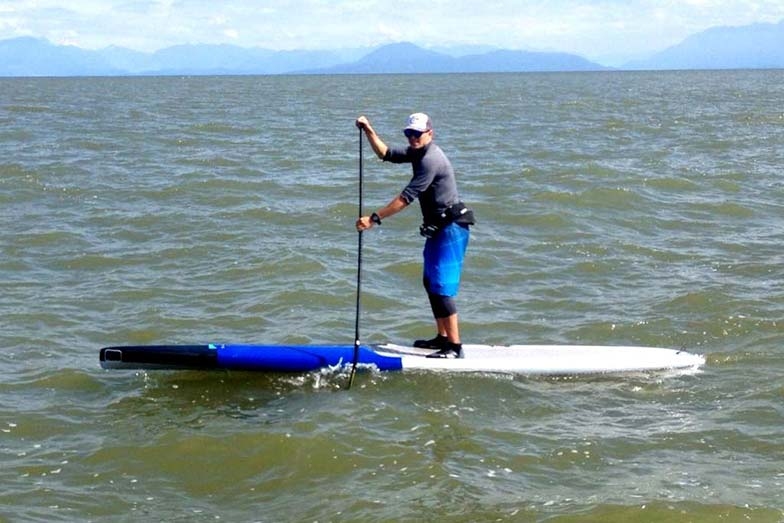 North West waves are starting to kick up on stand up paddlers