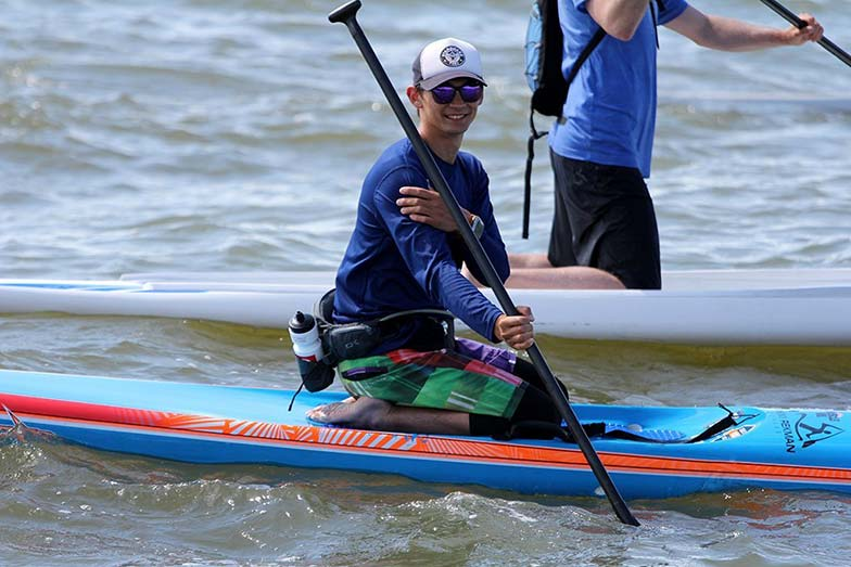Stand Up For Men's Health paddle boarders