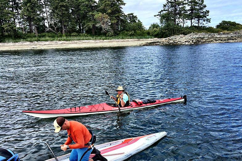 Day 2 of Stand Up For Men's Health paddle boarders with Ron
