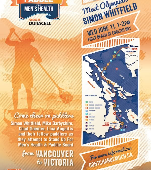 Stand Up Paddle For Men's Health Event with Simon Whitfield!