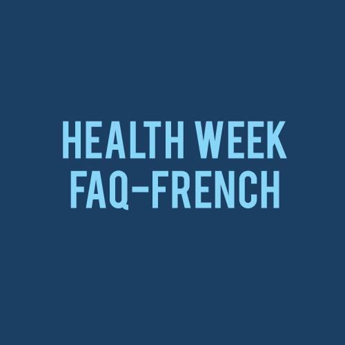 healthweekFAQ fr