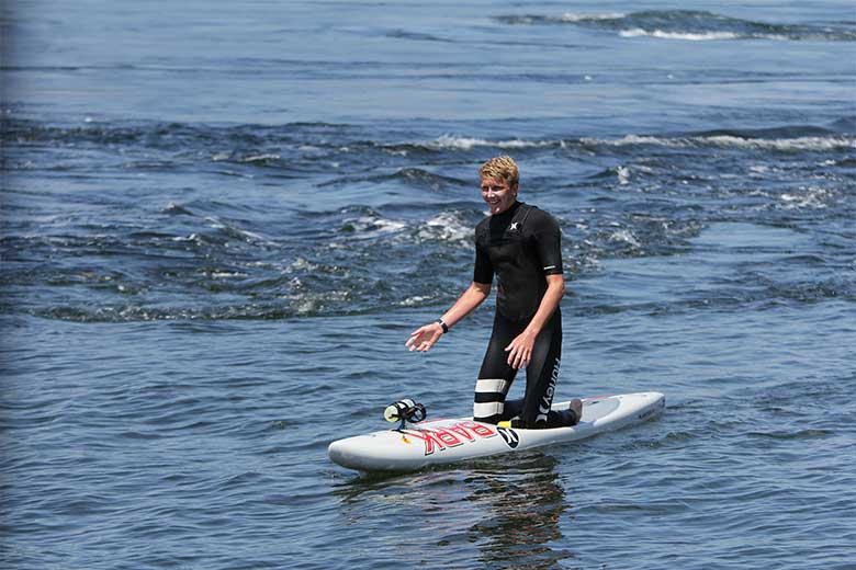 Paddler Jack Bark braves the rapids
