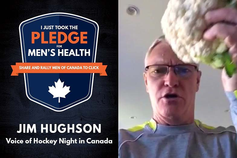 Jim Hughson takes the Men's Health Week pledge