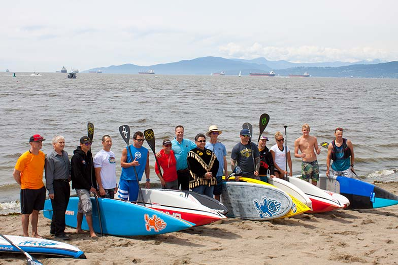 Paddlers prep for Stand Up Paddle For Men's Health