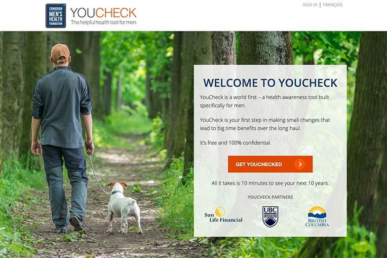 YouCheck.ca Breaks New Ground for Men's Health Awareness